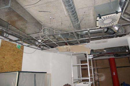 Sanierung bei Schimmelpilzbefall in 14089 Gatow: Rückbau der abgehängten Decke