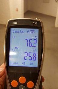 ursachen-schimmelpilze-berlin-brandenburg Messung Luftfeuchtigkeit u. Raumlufttemperatur